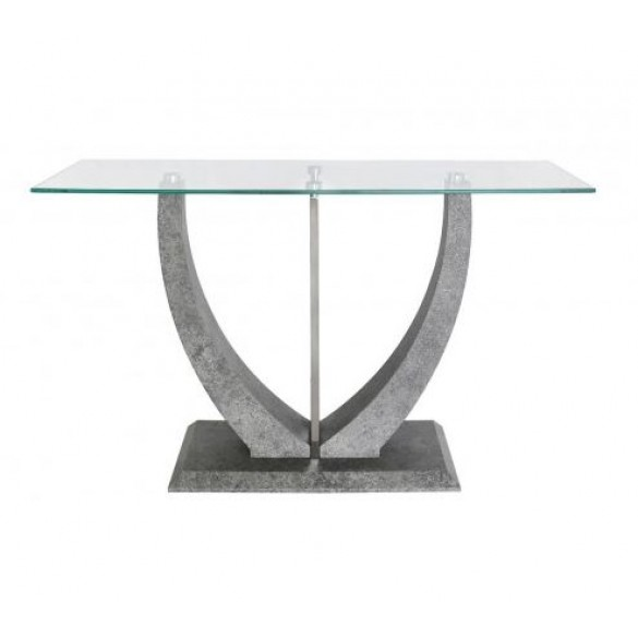 CIMC Leo Console Table Grey & Steel Top
